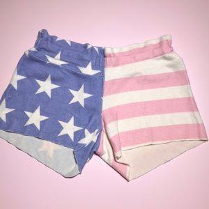 Wildfox kids American flag shorts